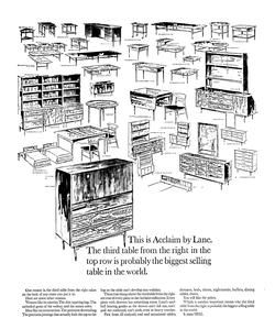Acclaim Collection by Lane Advertisement 1963